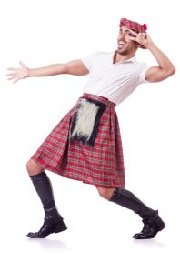 Man in kilt enjoying his TSA grope. Canstock image.