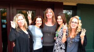 Jenny Hansen, Donna Newton, Piper Bayard, Ingrid Schaffenberg, Kristen Lamb -- Lifelong friends from DFWCon 2012.