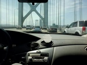 FS SF driving across Bay Bridge into city 5-3-14