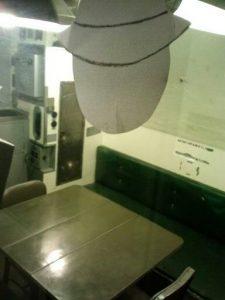 FS SF gazing into meeting room of USS Pampanito 5-3-14