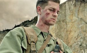 Andrew Garfield as Pfc. Desmond Doss Check out those cargo nets on that 400 ft. ridge. Image from HACKSAW RIDGE.
