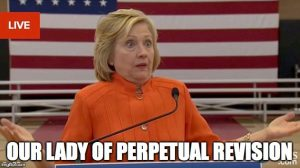 Meme 2015 Clinton our lady of perpetual revision