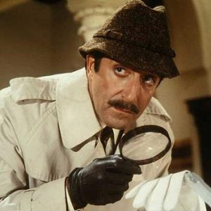 Movie pic Inspector Cleusseau with spy glass