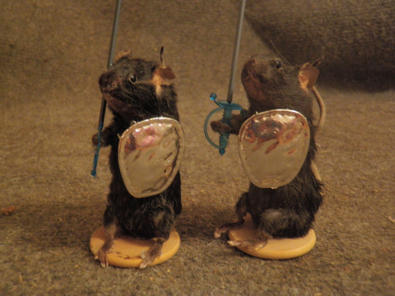 The End is Near (and we deserve it) . . . Dead Mice Chess Pieces