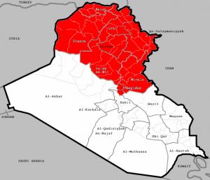 Map of U.S. airstrike areas in Iraq image by JhonsJoe, CC3.0