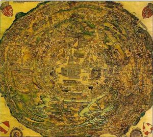 Circular Map of Vienna, 1529 public domain, wikimedia commons