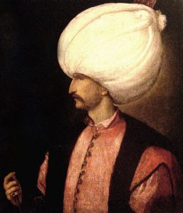 Suleiman the Magnificent Painting by Titian, public domain wikimedia commons