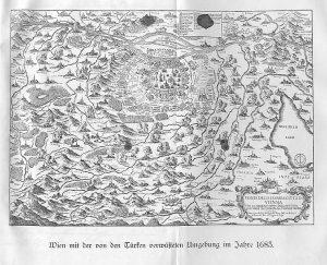 Map of Vienna, 1683 By Giovanni Giacomo de Rossi, public domain