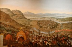 Siege of Vienna, 1683 Painting by Frans Geffels, public domain
