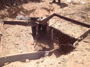 Tunnel under Gaza Strip Unaltered image by Israel Defense Force.