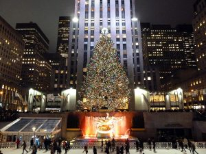 Holidays at Rockefeller Center Image by Rob Young, wikimedia commons.