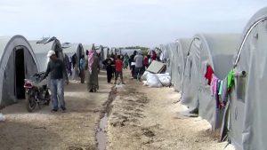 Kurdish refugee camp in Suruc, Turkey, Nov. 19, 2014 Image by Voice of America, public domain.