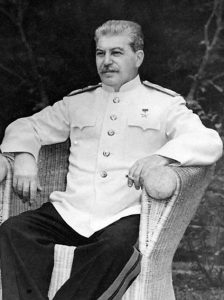 Josef Stalin in Berlin, 1945 Image from US Library of Congress,  public domain.