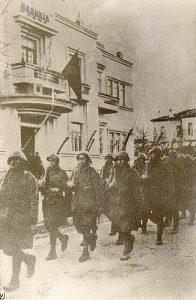 Greek Forces in Korce, November 1940 public domain