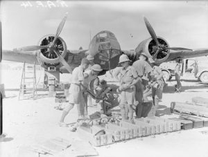 Royal Air Force preparing to raid Italian positions at Tobruk public domain