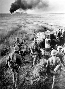 Wehrmacht troops cross the USSR borders in Operation Barbarossa, June 22, 1941. public domain
