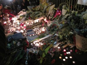 Memorial at Bataclan Image by Annie Harada Viot, public domain.
