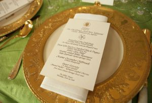 Clinton china with calligraphy menu. Wikimedia commons, public domain.