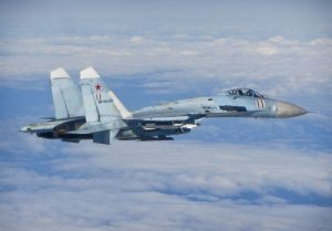 Russian SU-27 Flanker aircraft. Image by UK Royal Air Force, wikimedia commons.