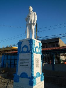 Statue of Benigno Aquino, Jr.  in Conception, Tarlac. Image by Ramon F Valasquez,  CC3 License, wikimedia commons.
