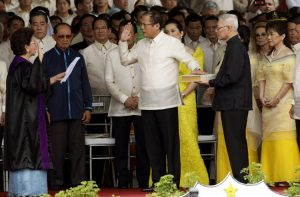 Inauguration of Benigno Aquino, III in June, 2010. Image by Govt. of Philippines, public domain.