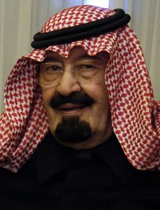 King Abdullah bin Abdul al-Saud, January 2007 Image by Cherie A. Thurlby, Dept. of Defense, public domain