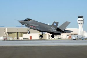 F-35 Joint Strike Fighter at Edwards Air Force Base Image public domain.
