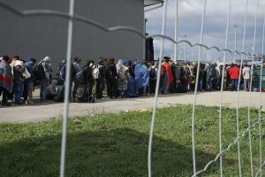 Syrian refugees bound for Germany and Central Europe Image by Mstyslav Chernov, wikimedia commons.
