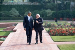 US Pres. Obama & India Prime Minister Modi Image by Pete Souza, public domain.