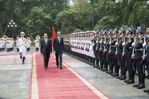 US Pres. Obama & Vietnam Pres. Tran Dai Quang Presidential Palace, May 23, 2016 Image public domain.